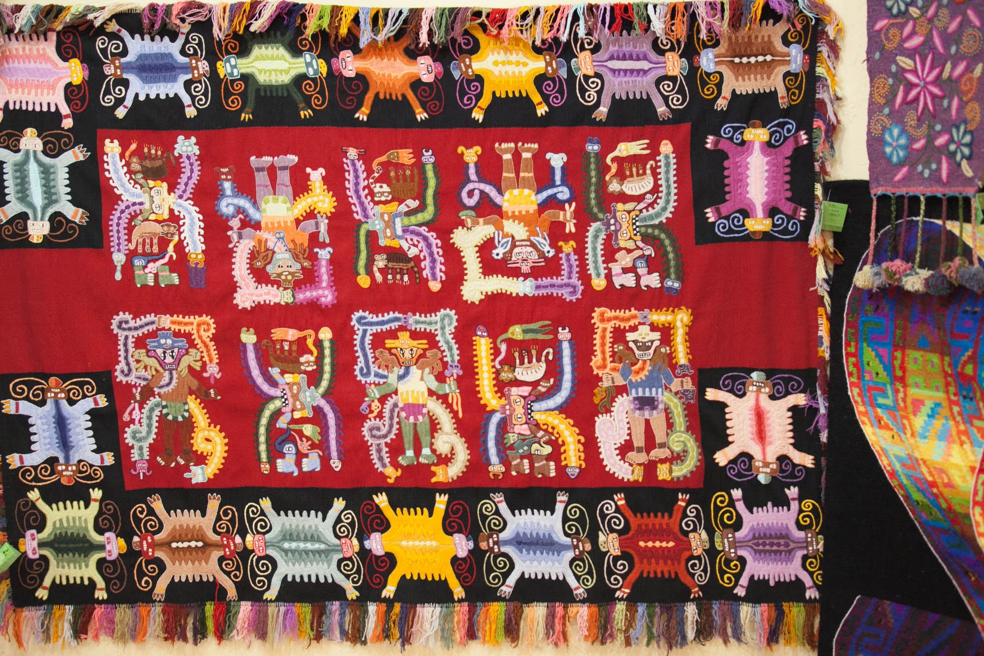 Peru traditional tapestry