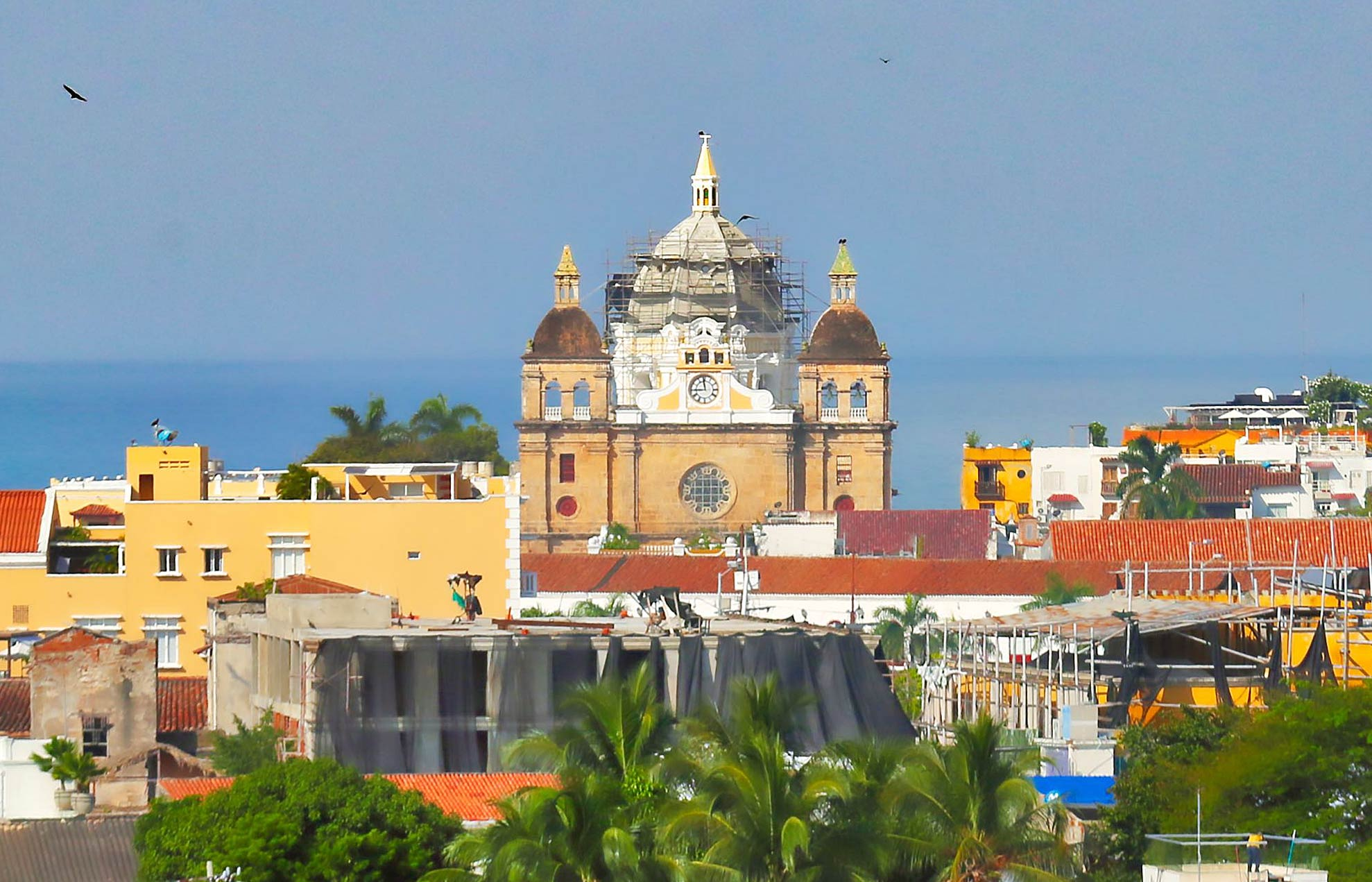 Old Cartagena skyline detail