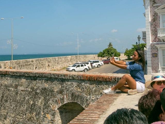 Atop Platforma de Ballestas in Old Cartagena