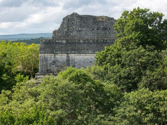 Mayan ruins of Dzibanche in Mexico