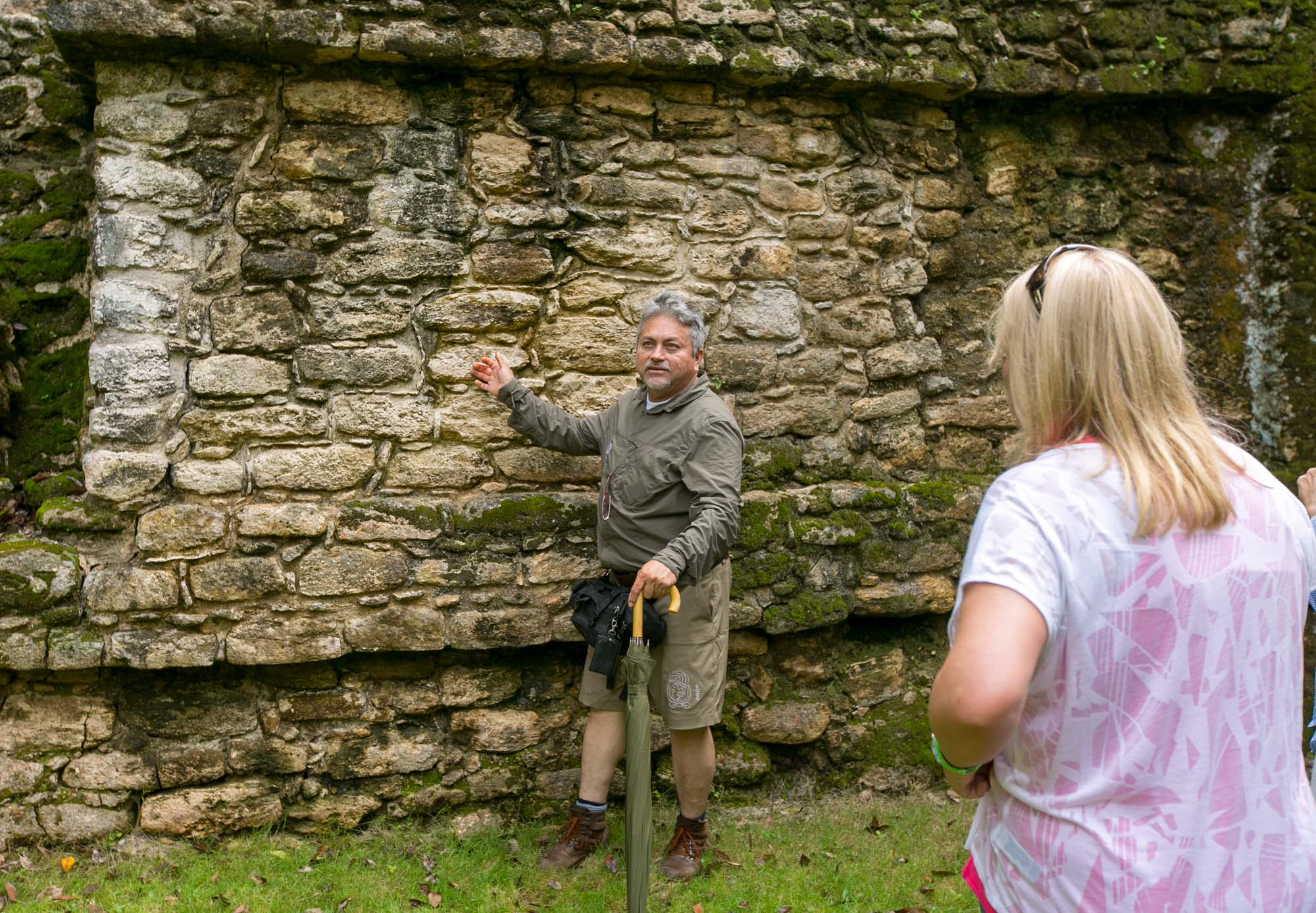 Our tour guide Hugo at Mayan ruins of Dzibanche in Mexico