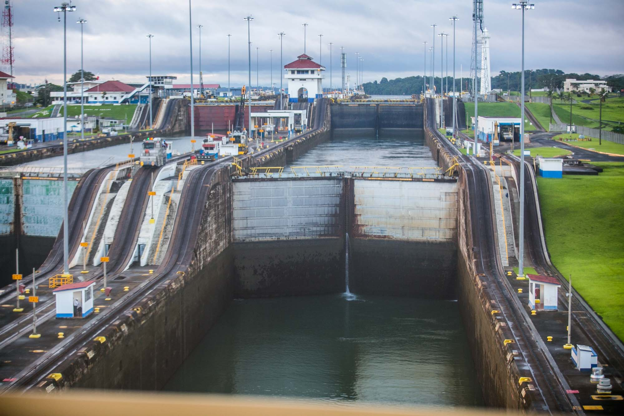 Panama Canal forward view from first lock