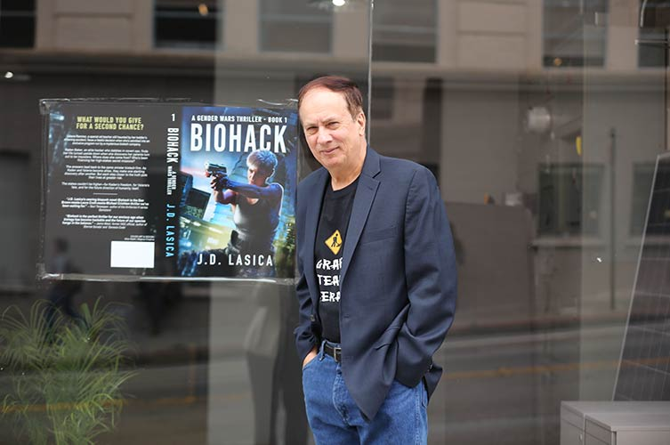 J.D. Lasica at his book launch event in San Francisco.