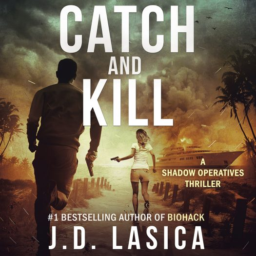 "Square version of ""Catch and Kill"" book jacket for Instagram and Audible."