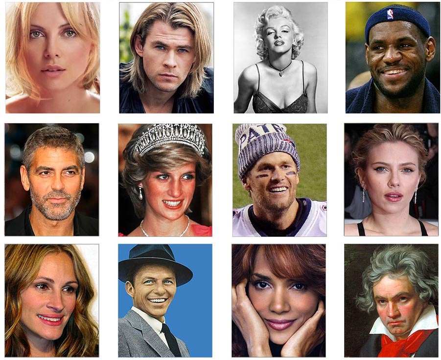celebrities collage